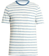 Faherty Crew-neck striped-cotton T-shirt