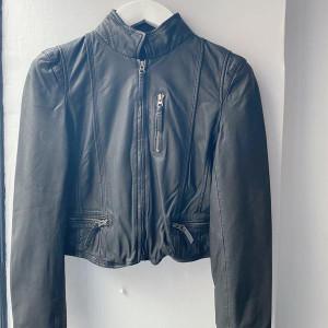 MDK - Leather Rucy Jacket Black - 36