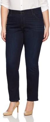 Lee Women's Plus-Size Plus-Size Motion Series Total Freedom Straight Leg Jean
