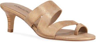 Donald J Pliner Klarisa Metallic Leather Slide Sandals