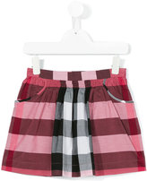 Burberry house check skirt - kids - Cotton - 4 yrs