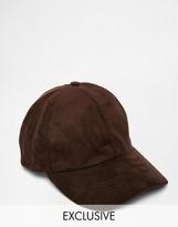 Reclaimed Vintage Baseball Cap In Faux Suede