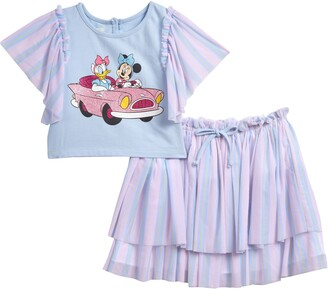 Pippa & Julie x Disney Minnie Mouse & Daisy Duck Tee & Skirt Set