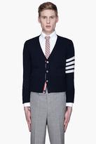 Thom Browne Navy classic cashmere cardigan