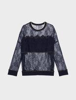 DKNY Transparent Lace Sweatshirt