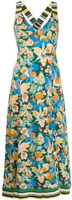 M Missoni Floral Print Mid-Length Dress