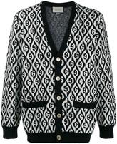 Gucci monogram buttoned cardigan