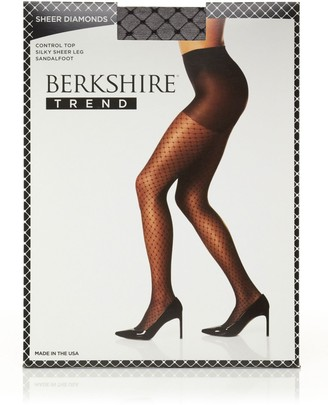 Berkshire Women's Sheer Diamond Control Top Pantyhose