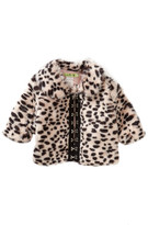 Little Mass I Love Shoes Faux Fur Coat (Baby, Toddler, & Little Girls)