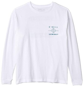 O'Neill Kids Kids Verge Long Sleeve T-Shirt (Big Kids) (White) Boy's Clothing
