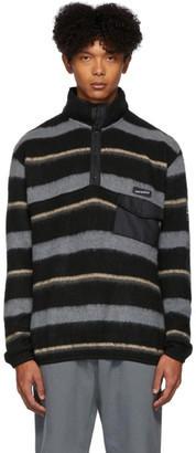 Nanamica Black and Grey Wool Pullover Sweater