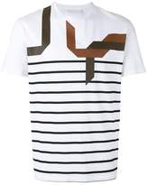 Neil Barrett abstract striped T-shirt