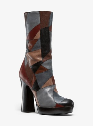 Michael Kors Emmy Patchwork Leather Platform Boot