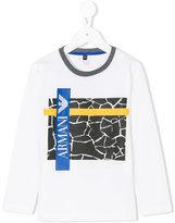 Armani Junior graphic print top - kids - Cotton - 4 yrs