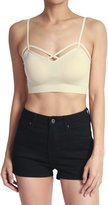 TheMogan Women's Crisscross Strap Bustier Cami Crop Top