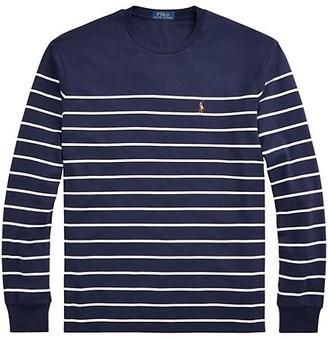 Polo Ralph Lauren Long-Sleeve Interlock Striped T-Shirt