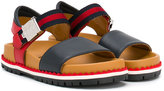 Gucci Kids - GG Web sandals - kids - Leather/rubber - 31