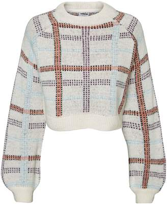 Noisy May Jacquard Cropped Sweater