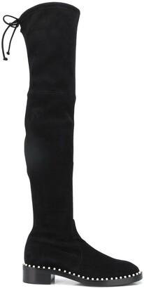Stuart Weitzman Lowland pearl thigh-high boots