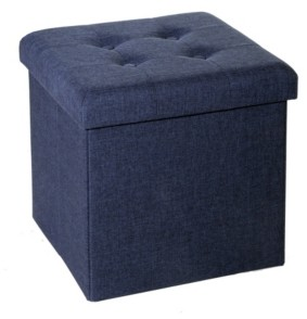Seville Classics Foldable Tufted Storage Ottoman