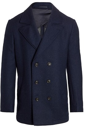 Saks Fifth Avenue Double-Breasted Peacoat