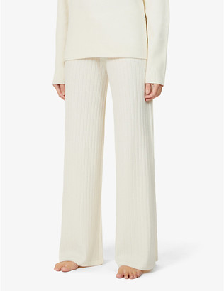 Madeleine Thompson Temple of Doom wide-leg cashmere trousers