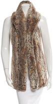 Alice + Olivia Shawl Collar Faux Fur Vest