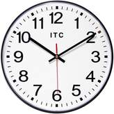 "Infinity Instruments Black Carnegie Wall Clock, 12"" Round"