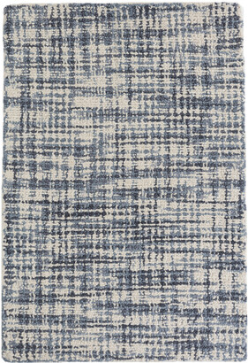 Crowley & Grouch Imports Olio Blue Woollen Rug