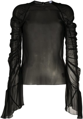 Redemption Long-Sleeved Ruched Detail Blouse
