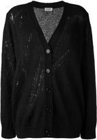 Saint Laurent oversized grunge cardigan - women - Nylon/Mohair/Wool - 38