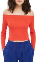 Topshop Women's Slit Cuff Off The Shoulder Top