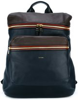 Paul Smith zipped backpack - men - Leather - One Size
