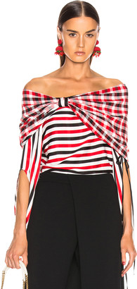 Hellessy Galaxy Blouse in Red, White & Black | FWRD