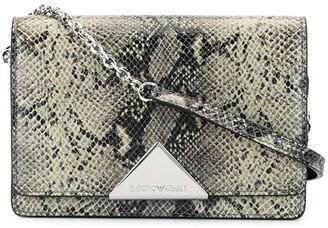 Emporio Armani Snake Print Crossbody Bag