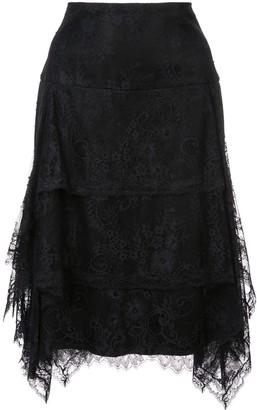 Josie Natori Lace Ruffle Skirt