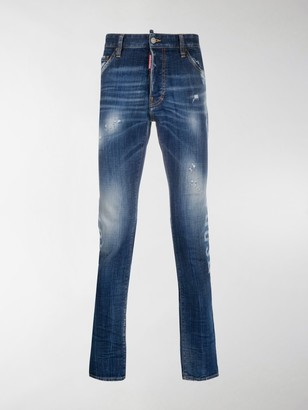 DSQUARED2 Stenciled-Print Skinny Jeans