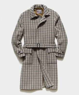 Todd Snyder Exclusive Private White V.C. + Oversized Houndstooth Topcoat in Charcoal