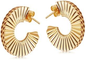 Missoma Gold Medium Flat Frill Hoop Earrings