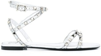 Valentino Rockstud Flair flat sandals