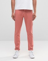 Liquor & Poker Slim Chino Dusky Pink