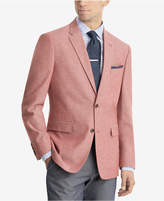 Tommy Hilfiger Men's Modern-Fit Red/White Chambray Sport Coat