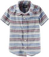 Osh Kosh Woven Button Down (Toddler/Kid) - Stripe - 5