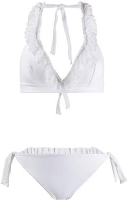 Fisico ruffled-trim bikini set