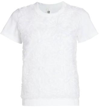 Noir Kei Ninomiya Tulle Embroidered T-Shirt