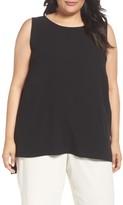 Eileen Fisher Plus Size Women's Silk Georgette Crepe Top