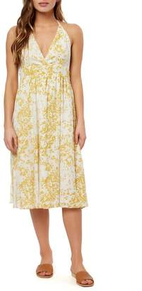 O'Neill Andre Halter Neck Midi Dress
