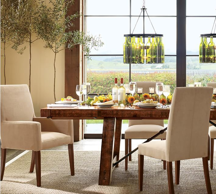 Pottery Barn Benchwright Extending Table & Grayson Chair 7-Piece Dining Set