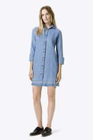 J Brand Bacall Shirt Dress in Fave