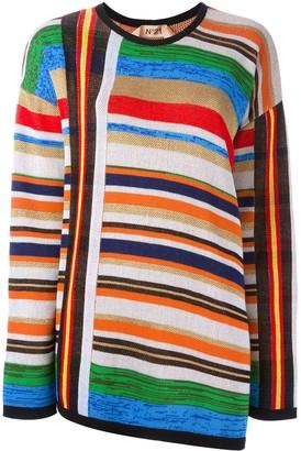 No.21 Open Back Striped Pullover